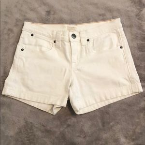 EUC J Crew White Denim Shorts
